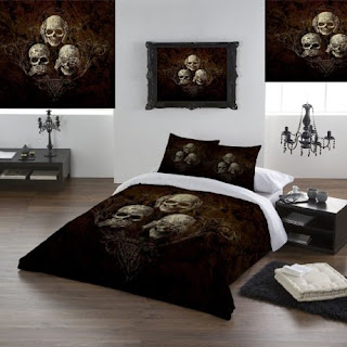 Creepy Skull Themed Bedroom Decor Ideas For Girls