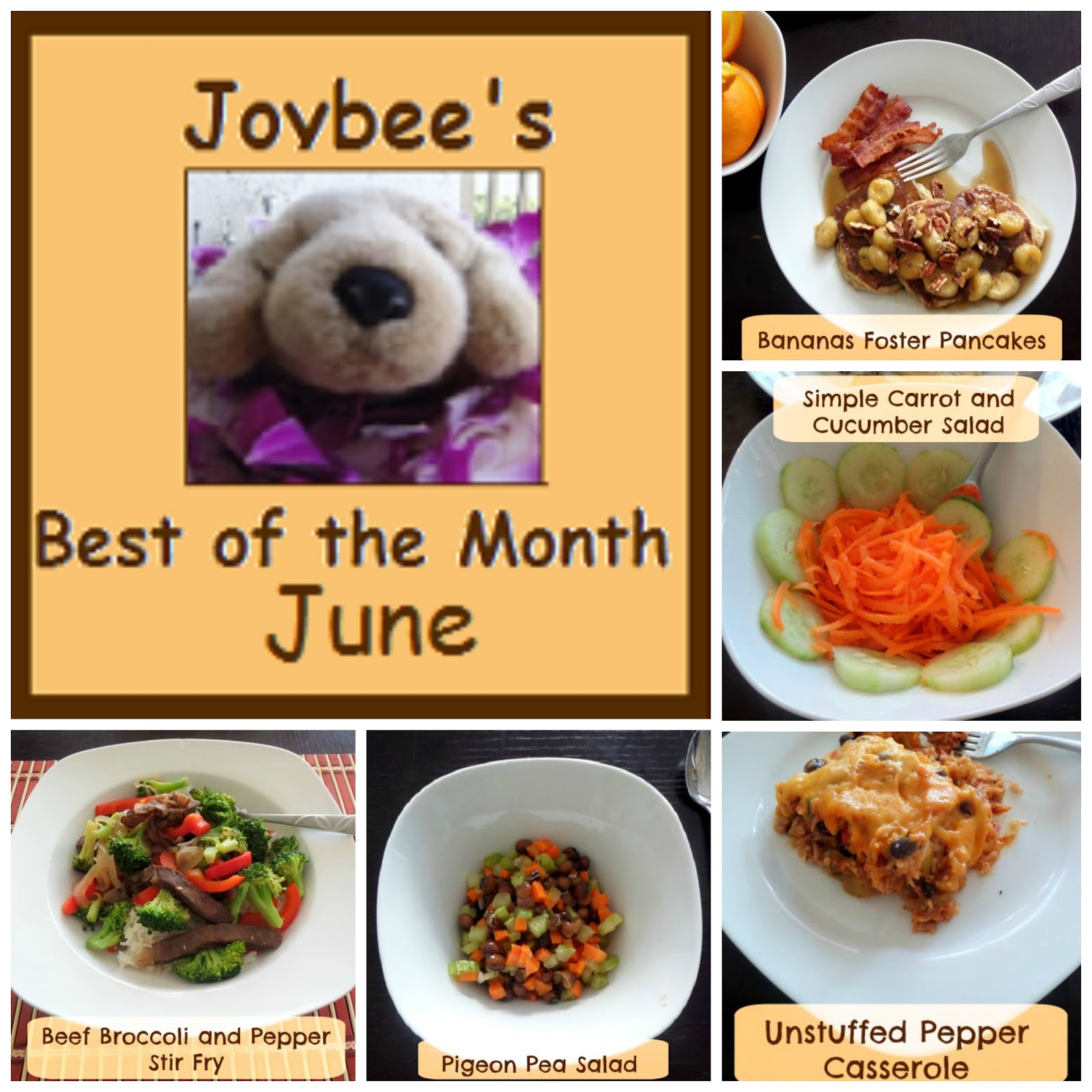Joybee's Best of the Month June 2014:  A recap of my most popular recipes from last month (June 2014)