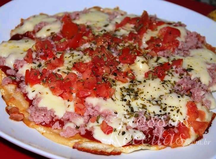 Receita de Pizza preparada na frigideira
