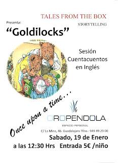 Storytelling, cuentacuentos, inglés, cuentos, Oropéndola, Guadalajara, Estibi, cuentos en inglés, Goldilocks, Ricitos de oro, Tales from the box, espacio cultural, espacio personal, Guadalajara