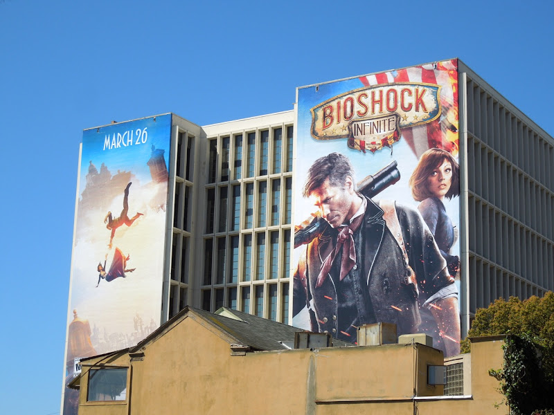 Giant BioShock Infinite video game billboards