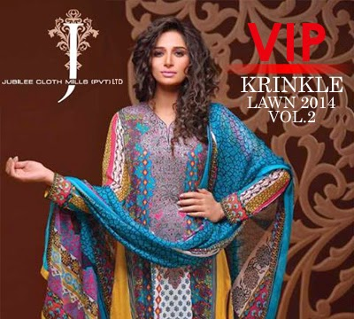 VIP Krinkle Lawn Collection 2014 Vol.2 by Jubilee Cloth Mills