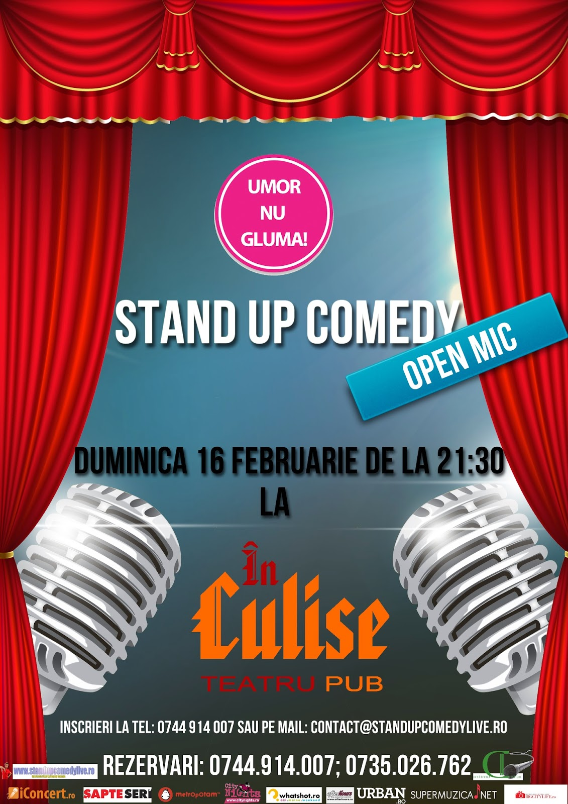 open mic stand-up comedy bucuresti