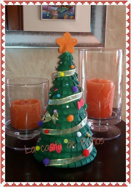 Ábol de navidad en fieltro - Felt Christmas tree