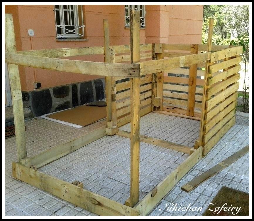 Huerto familiar en casa gallinero paso a paso de madera - Casas con palets de madera ...