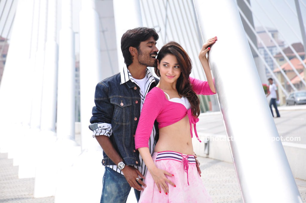 hot wallpapers tamanna hot navel and sexy thigh show in vengai movie