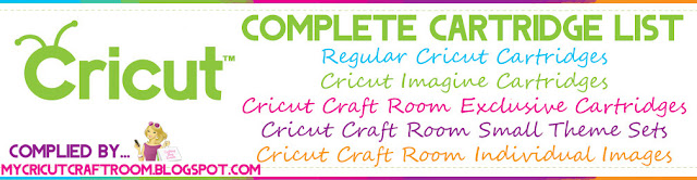 My cricut craft room 889 all cricut cartridge checklist for Cricut craft room fonts