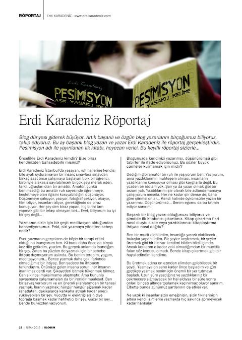 Blogum Dergisi Röportajı