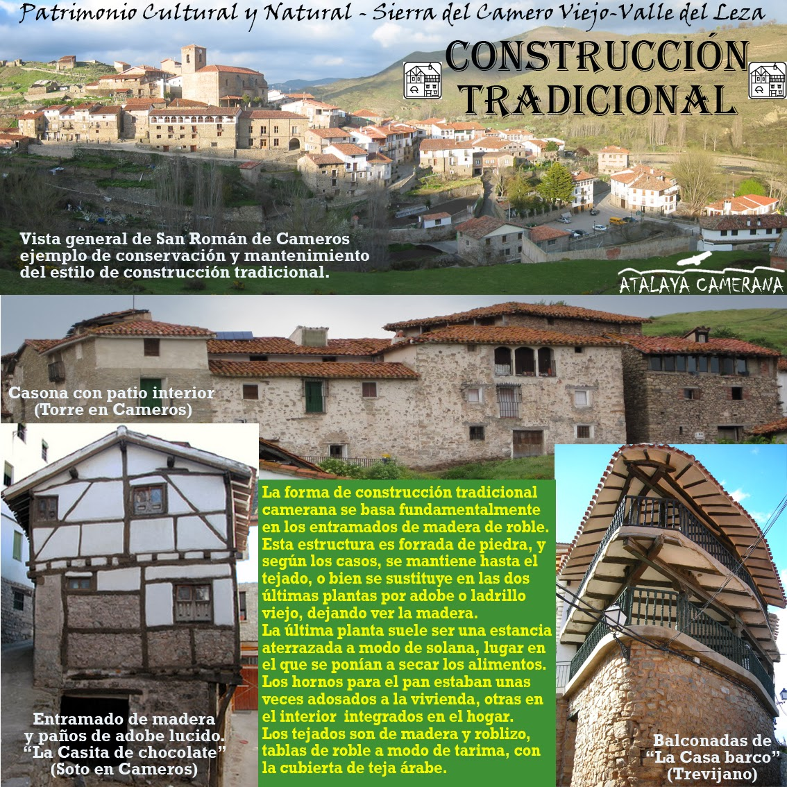 Sierra del Camero Viejo - Valle del Leza. Patrimonio Cultural y Natural. Fundaciones Construcciones Tradicionales.