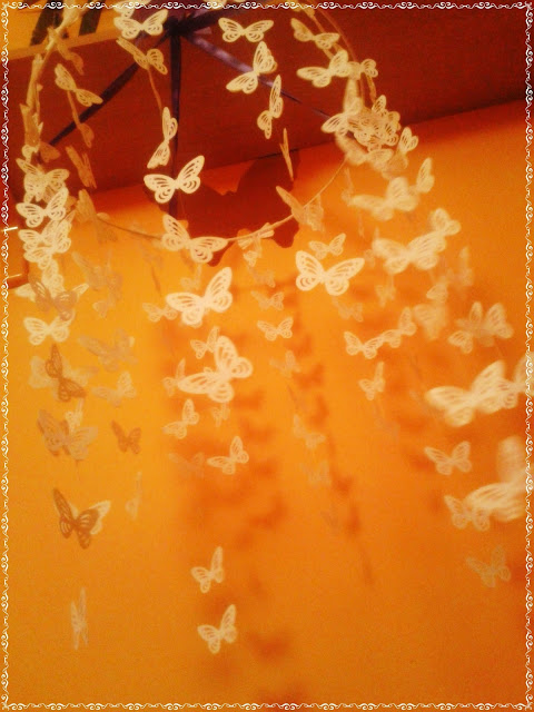 wisząca ozdoba do pokoju dziecięcego motyle