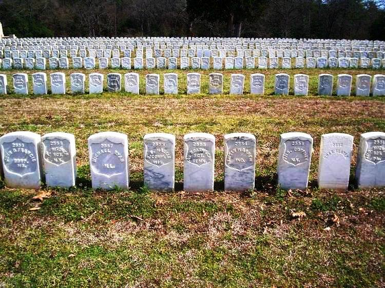 Union POW Graves at Andersonville