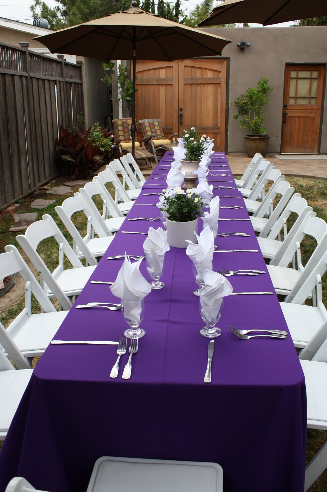 party productions banquet tables make for an intimate gathering