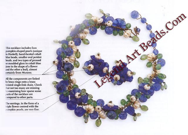 Haskell Glass & Pumpkin Pearl Necklace & Earrings