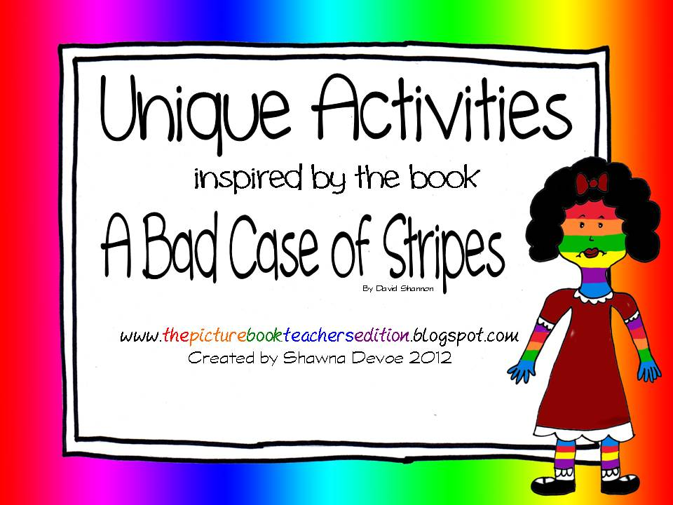 The Picture Book Teachers Edition A Bad Case of Stripes by David – A Bad Case of Stripes Worksheets