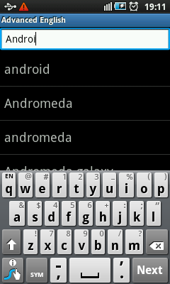 Dictionary For Android - Quick Search
