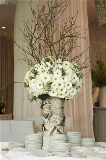 winter wedding table flower