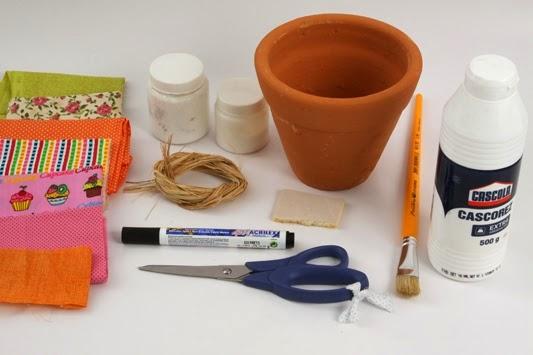 cómo decorar una maceta de barro en decoupage ~ lodijoella