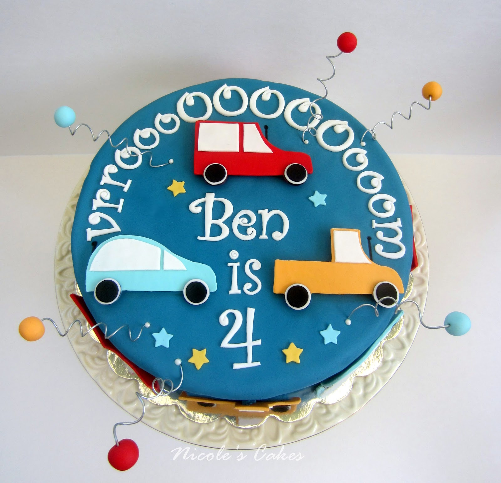 Confections, Cakes & Creations!: Car themed birthday cake