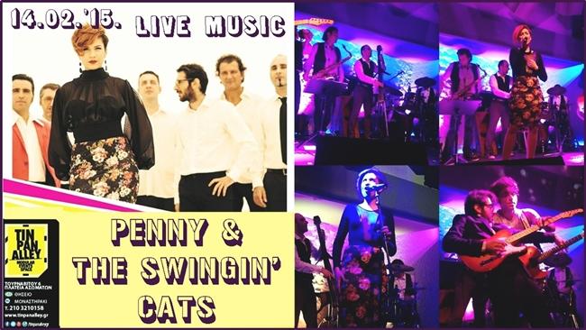 """""""Penny & The Swingin' Cats"""" live @TinPanAlley"""