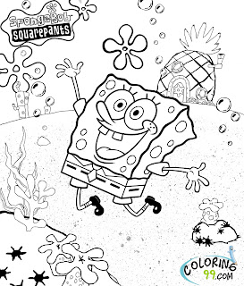 spongebob squarepants coloring pages