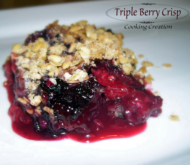 Cooking Creation: Triple Berry Crisp