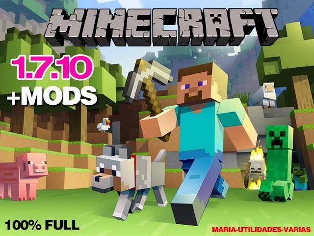 descargar Minecraft 1.7.10  + Packs de Mods + Forge | el mejor pack de la web