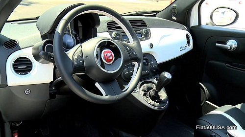 Fiat 500c GQ Edition dashboard