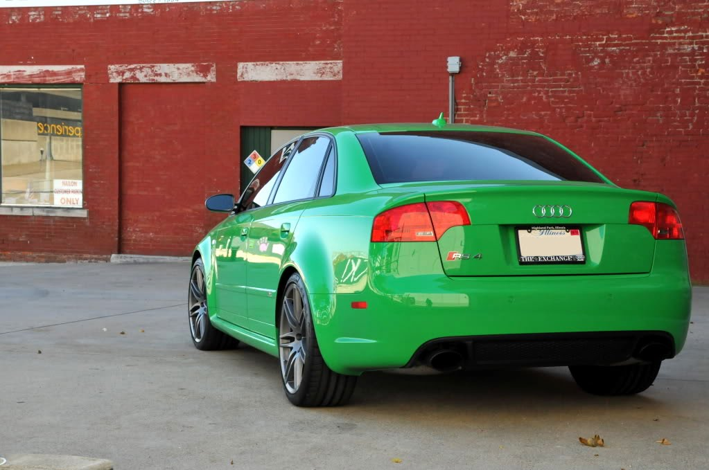 One of a kind Viper Green Audi RS4 comes up for sale