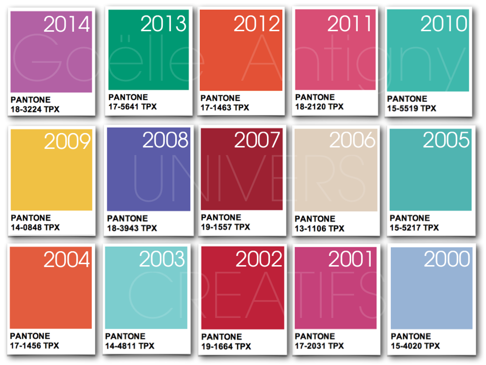 Univers creatifs couleur pantone de l 39 ann e 2014 - Pantone couleur de l annee ...