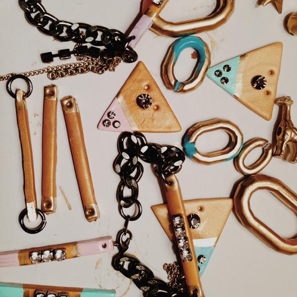 geometric pastel handmade jewelry