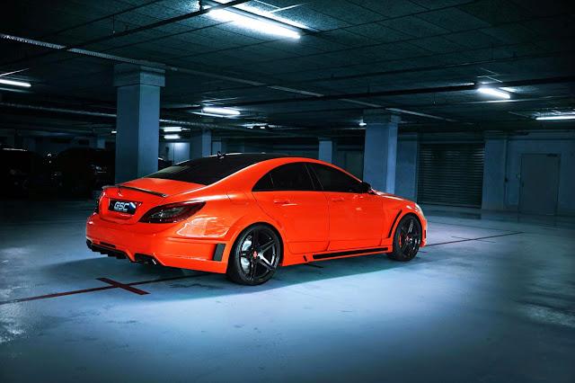 mercedes cls orange
