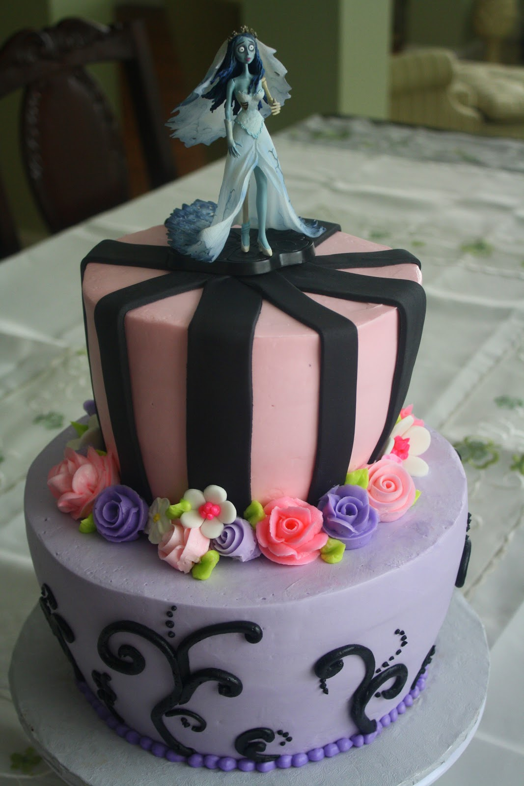 corpse bride birthday cake
