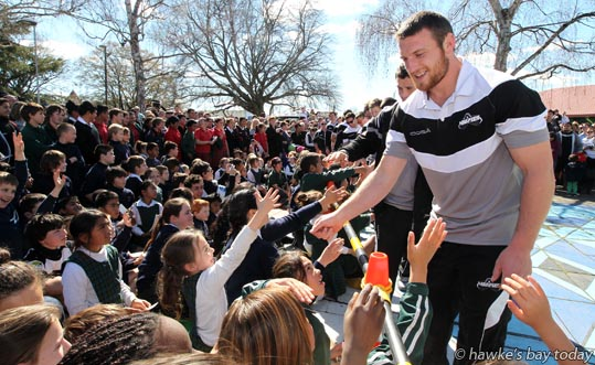 Tony Lamborn - Parade in Hastings for the Hawke's Bay Magpies rugby team, followed by a mayoral reception, civic reception at Civic Sqaure. Winners of the Ranfurly Shield, after beating Otago 20-19 in Dunedin on Sunday photograph