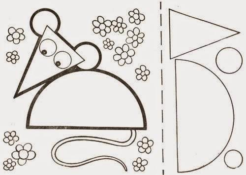 Картинки из геометрических фигур для детей распечатать 10