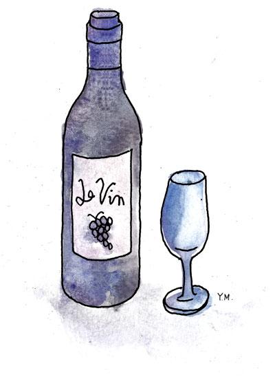 le vin et un verre by Yukié Matsushita