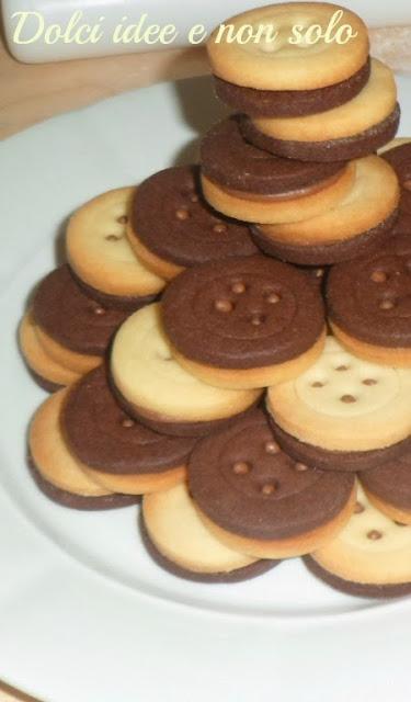 biscotti accoppiati bianchi e neri