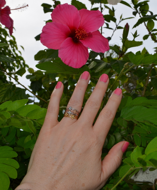 Moraley Flower stackable rings by Stella & Dot