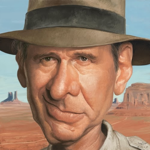 06-Harrison-Ford-from-Star-Wars-Raiders-of-the-Lost-Arc-Blade Runner-Yoann-Lori-www-designstack-co