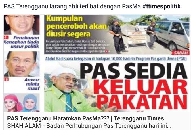 PAS Terengganu Haramkan PasMa