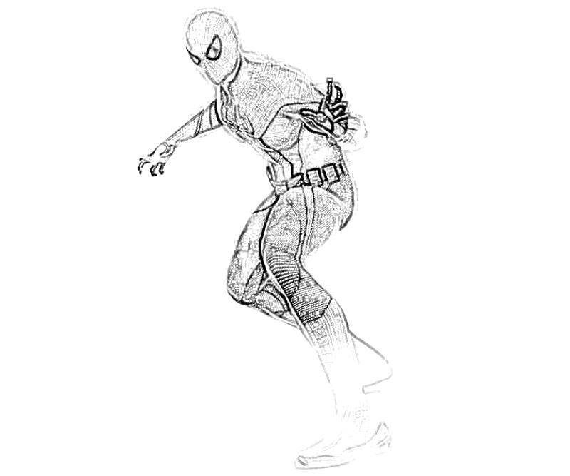 printable the amazing spider man character coloring pages