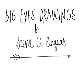 Big eyes drawings