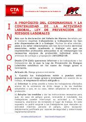 A PROPÓSITO DEL CORONAVIRUS Y LA CONTINUIDAD DE LA ACTIVIDAD LABORAL, LEY DE PREVENCIÓN DE RIESGOS