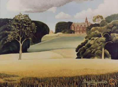 Grey Towers Nunthorpe painting in acrylic by North East artist Ingrid Sylvestre UK North East Art Durham artist