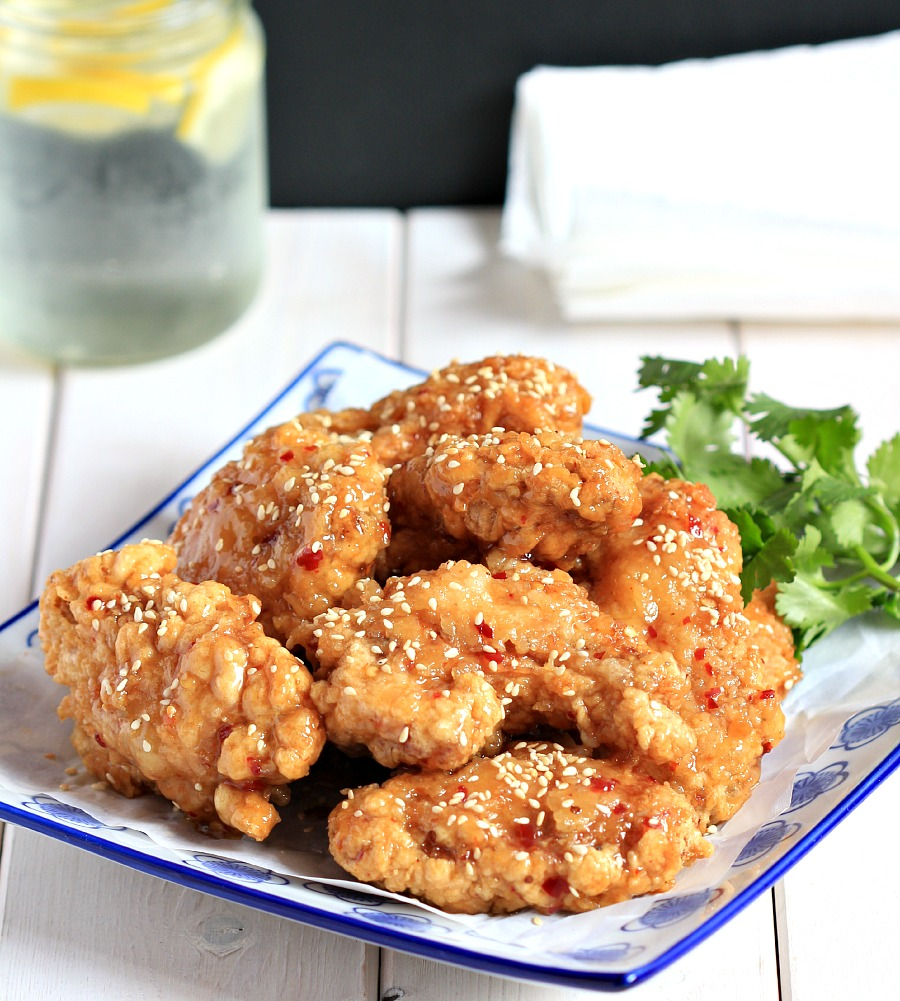 ... bare cupboard: Extra crispy Thai-style sweet and spicy chicken wings
