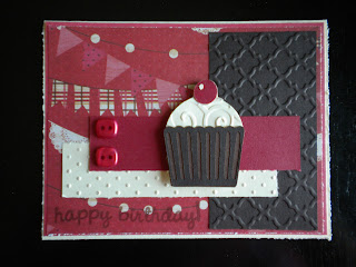 Cricut Sweet Treats Cartridge Cupcake Swiss Dots Embossing
