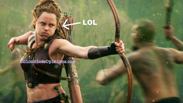 LOL stupid face Ingrid Bolsø Berdal as Atalanta in Hercules 2014 meme movie still