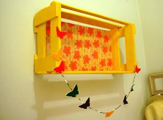 decoração com caixote de feira