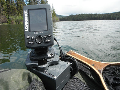 Fish finder and transducer mounting solutions for Float tube fish finder