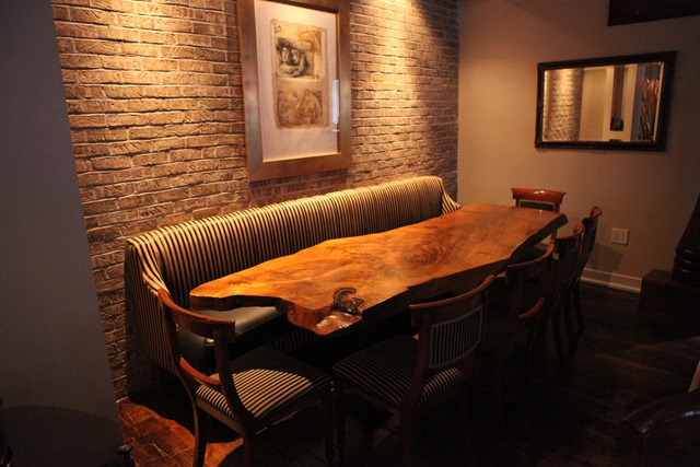 Dining room booth table