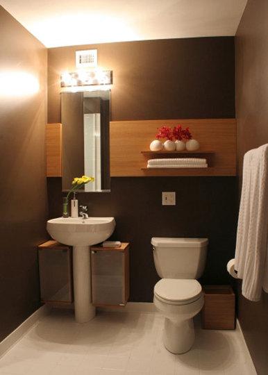 Decora el hogar modernos ba os peque os for Ideas para decorar banos pequenos